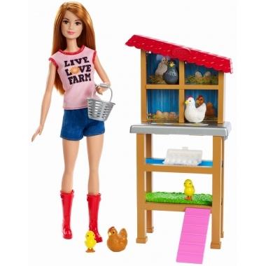 Barbie Cariere - set mobilier cu papusa la ferma