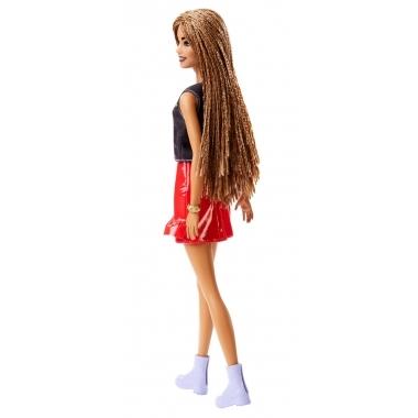 Papusa Barbie Fashionista cu fustita rosie cu volane