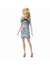 Papusa Barbie Fashionista cu par blond prins in coada