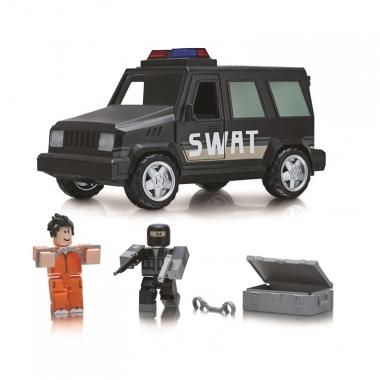 Roblox - Jail Break SWAT Unit (Masina cu functii si 2 figurine)