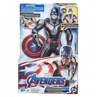 Avengers, Figurina de actiune Captain America cu sunete si fraze 33 cm (spaniola)