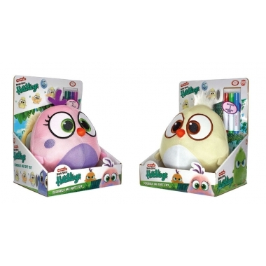 The Angry Birds Movie 2 Unpainted Plush Figures 20 cm Hatchlings Scribble Me
