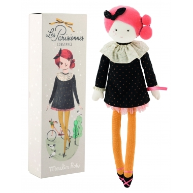 Papusa Constance din material textil, 47 cm, Moulin Roty