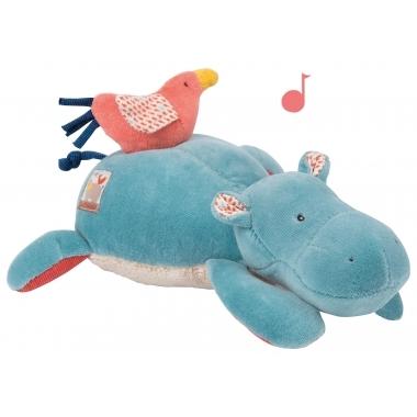 Hipopotam muzical, 22 cm, Moulin Roty