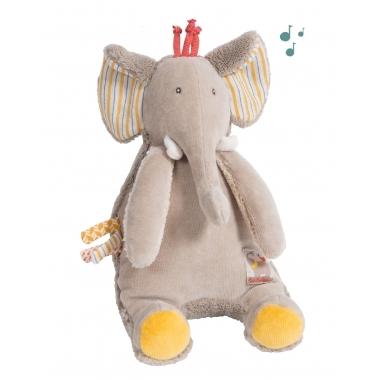 Elefantel muzical, 17 cm, Moulin Roty