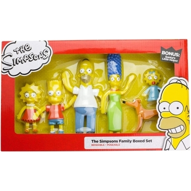 Simpsons Family, Set 6 figurine Bendable (flexibile) 3-15 cm
