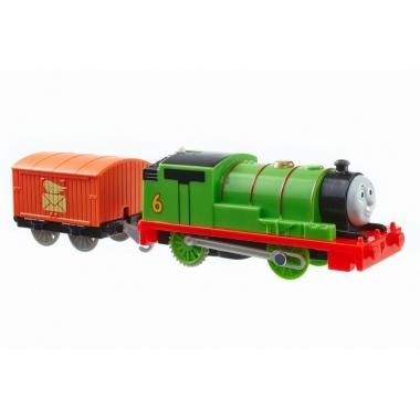 Thomas and Friends - Percy, locomotiva cu vagon (push along)