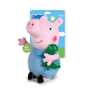 Peppa Pig, George jucarie de plus cu sunete 27 cm