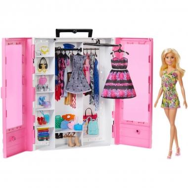 Sifonier cu hainute si papusa Barbie