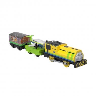 Thomas and Friends - locomotiva Raul si Emerson motorizata cu 2 vagoane si accesorii
