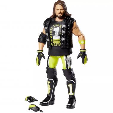 Figurina articulata WWE AJ Styles Elite 74, 17 cm