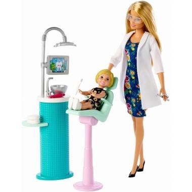 Barbie Cariere - set mobilier cu papusa la stomatolog