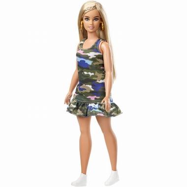 Papusa Barbie Fashionistas cu forme si par blond