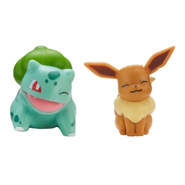 Pokémon, Eevee & Bulbasaur minifigurine 3-5 cm