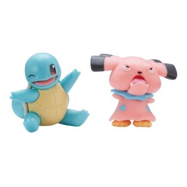 Pokémon, Snubbull & Squirtle minifigurine 3-5 cm