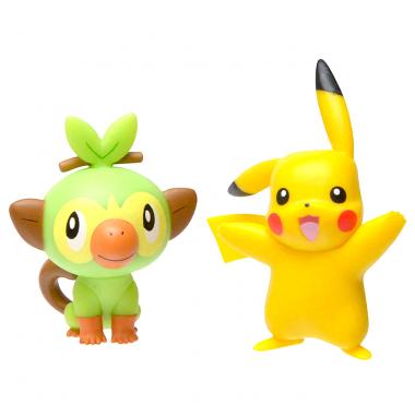 Pokémon Battle, Grookey & Pikachu minifigurine  3-5 cm