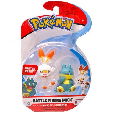 Pokémon, Munchlax & Scorbunny minifigurine  3-5 cm