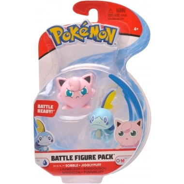Pokémon Battle, Sobble &  Jigglypuff  minifigurine  3-5 cm