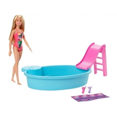 Barbie set papusa cu piscina