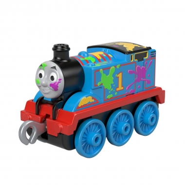Thomas and Friends - Locomotiva Thomas cu pete colorate (push along)