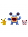 Pokemon Battle 3 Pack - Pikachu, Loudred and Jigglypuff 3-6 cm