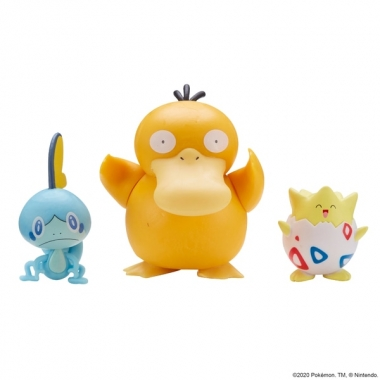 Pokemon Battle 3 Pack - Sobble, Togepi and Psyduck 3-6 cm