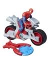 Motocicleta lui Spider-man cu figurina si lansator