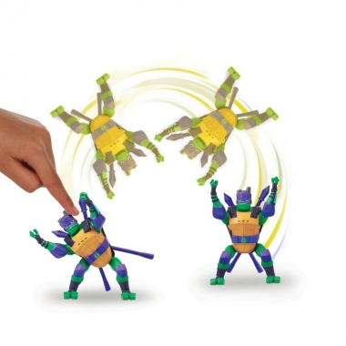 Testoasele Ninja - figurina Donatello in saritura laterala