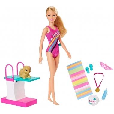 Barbie papusa inotatoare