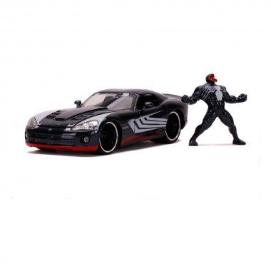 Marvel Spider-Man Hollywood Rides Diecast Model 1/24 2008 Dodge Viper SRT10 with Figure