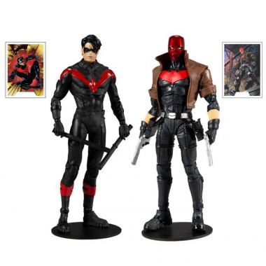 DC Multiverse Collector Multipack Night Wing VS Red Hood 18 cm