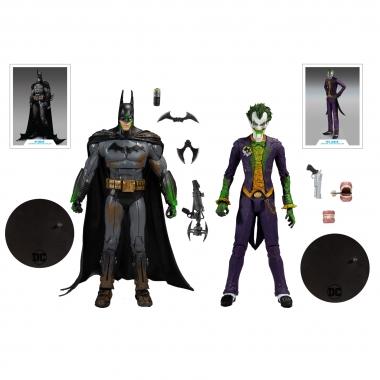 DC Multiverse Arkham Asylum Batman VS Arkham Asylum Joker 18 cm