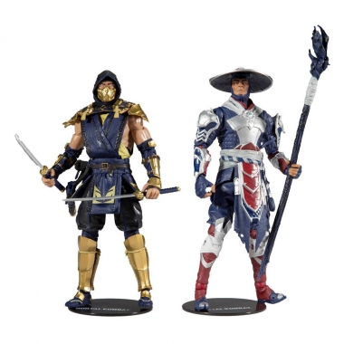 Mortal Kombat Set 2 figurine: Scorpion & Raiden 18 cm