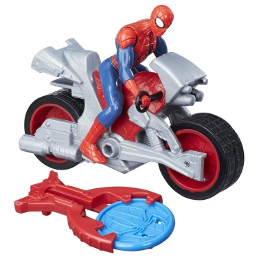 Set Figurina si Vehicul, Spider-Man Blast N Go - Spider-Man