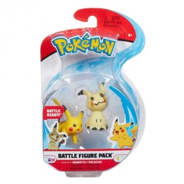 Pokémon Battle Minifigurine Mimikyu & Pikachu 5 - 8 cm