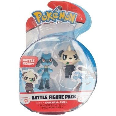 Pokémon Battle Mini Figurine - Pancham & Riolu 5 - 8 cm (ianuarie 2021)