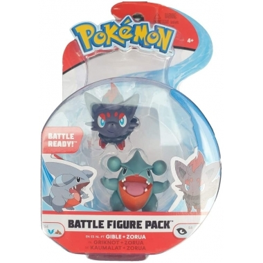 Pokémon Battle Minifigurine Gible & Zorua 5 - 8 cm