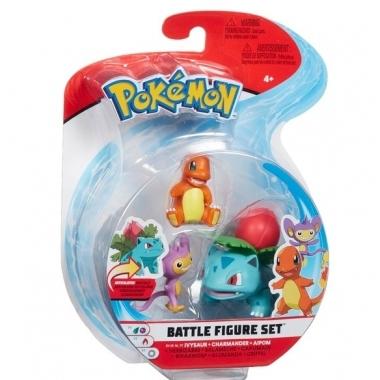 Pokémon Battle Mini Figurine 3-Pack - Aipom, Charmander & Ivysaur (5-8 cm)