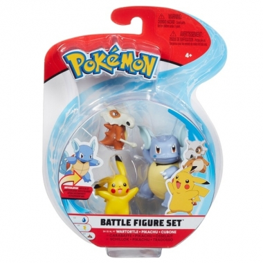 Pokémon Battle Mini Figurine 3-Pack - Cubone, Pikachu & Wartortle 5-8 cm