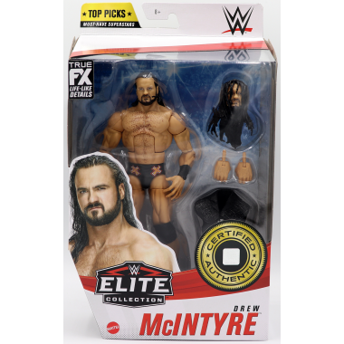 Figurina WWE Drew McIntyre - WWE Elite Top Picks 2021, 17 cm