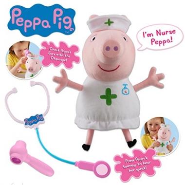 Jucarie de plus Peppa Pig Sora medicala 33 cm