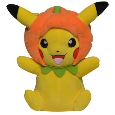 Pokemon, Jucarie de plus Pikachu cu dovleac 20 cm