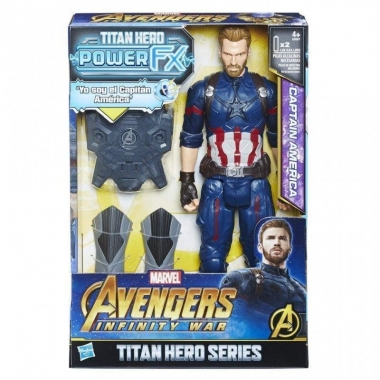 Avengers Infinity War Captain America (Titan Hero Power FX) 30 cm (spaniola)