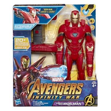 Avengers Infinity War Iron Man cu sunete si lumini 34 cm (spaniola)