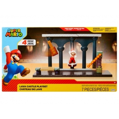World of Nintendo 2.5'' Lava Castle Playset