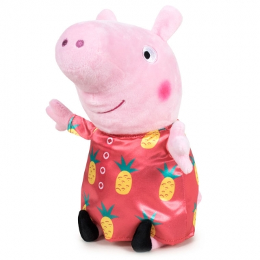 Peppa Pig - Jucarie de plus Peppa in rochita cu ananas, 42cm