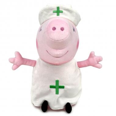 Peppa Pig - Jucarie de plus Peppa asistenta medicala, 27cm