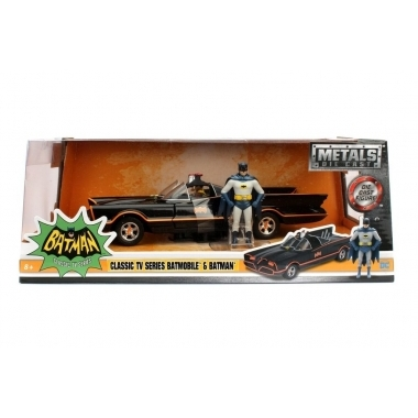 Batman Diecast Model 1/24 1966 Classic TV Series Batmobile with figure