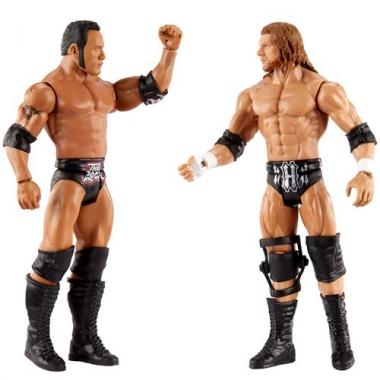 Set figurine The Rock & HHH - WWE Showdown 2-Packs 2