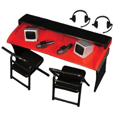 Set WWE Locul Comentatorilor - 'Commentators Playset' (Red)